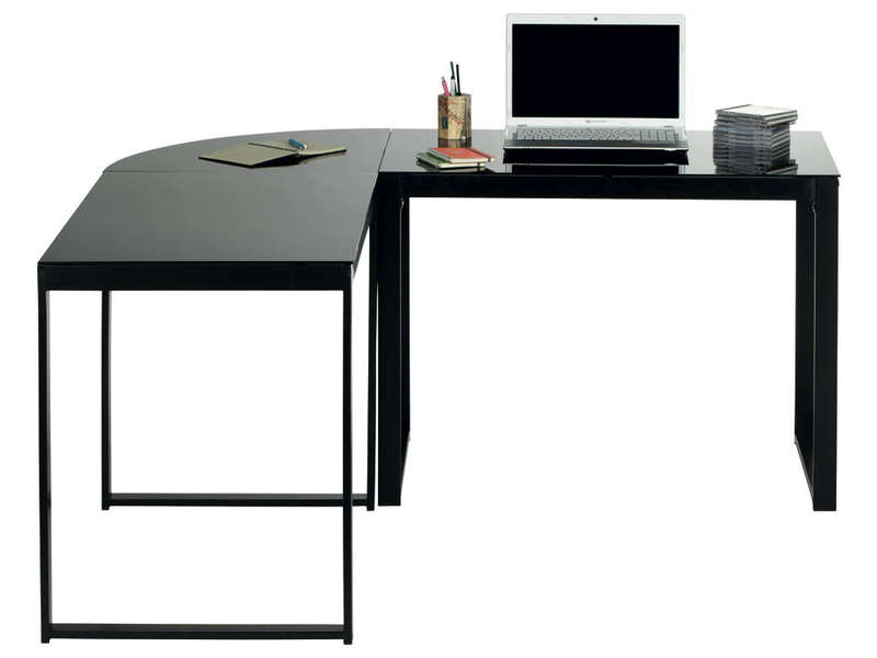bureau d angle blacky coloris noir call2win. Black Bedroom Furniture Sets. Home Design Ideas