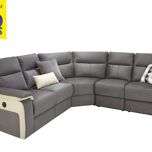 canap d angle relax lectrique 5 places call2win. Black Bedroom Furniture Sets. Home Design Ideas